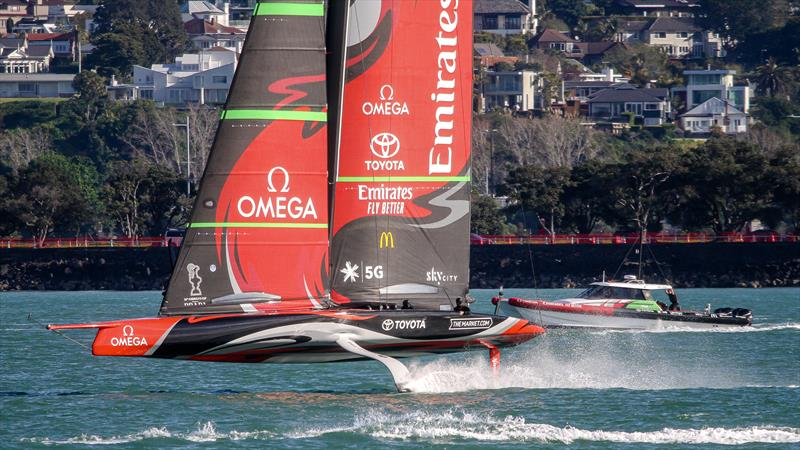 Emirates Team New Zealand - Waitemata Harbour - October 3, 2020 -  36th America's Cup photo copyright Richard Gladwell / Sail-World.com taken at Royal New Zealand Yacht Squadron and featuring the AC75 class