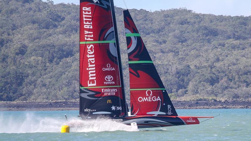 Emirates Team New Zealand round one of their racing marks - Stadium Course - Waitemata Harbour - September 21, 2020 - photo © Richard Gladwell / Sail-World.com