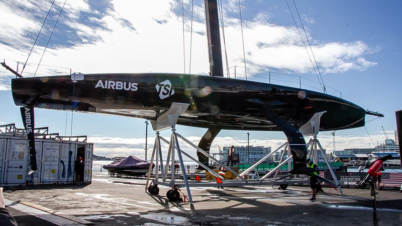 Patriot - American Magic - launching October 16, 2020, America's Cup 36, Auckland - photo © Richard Gladwell / Sail-World.com