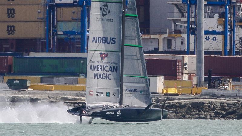 Patriot - American Magic - Waitemata Harbour - October 21, 2020 - 36th America's Cup photo copyright Richard Gladwell / Sail-World.com taken at New York Yacht Club and featuring the AC75 class
