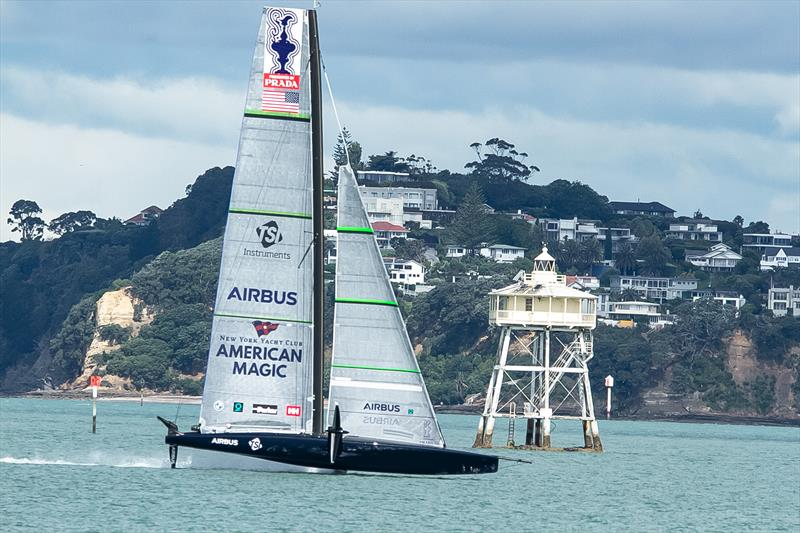 Patriot - American Magic - Waitemata Harbour - November 6, 2020 - 36th America's Cup photo copyright Richard Gladwell / Sail-World.com taken at  and featuring the AC75 class