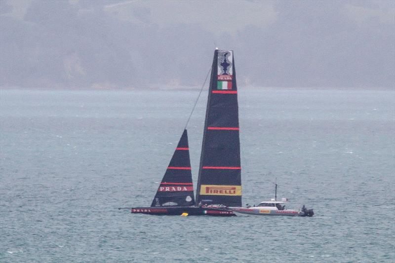 Luna Rossa sets up - Tamaki Strait - November 26, 2020 - 36th America's Cup - photo © Richard Gladwell / Sail-World.com