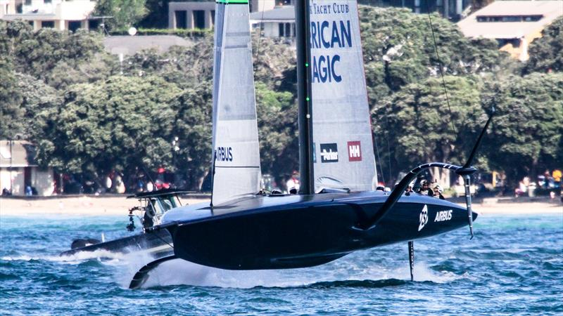 American Magic has a V-shaped hull at the front with volume well forward - Waitemata Harbour - November - 36th America's Cup - photo © Richard Gladwell / Sail-World.com