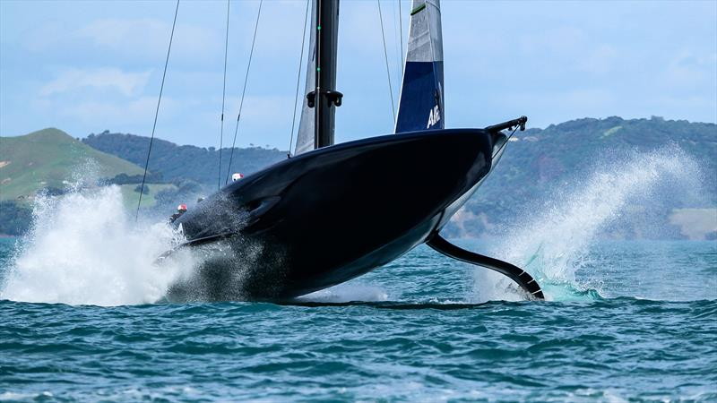 American Magic stalls in the pre-start - Practice Day 1 - ACWS - December 8, 2020 - Waitemata Harbour - Auckland - 36th America's Cup - photo © Richard Gladwell / Sail-World.com