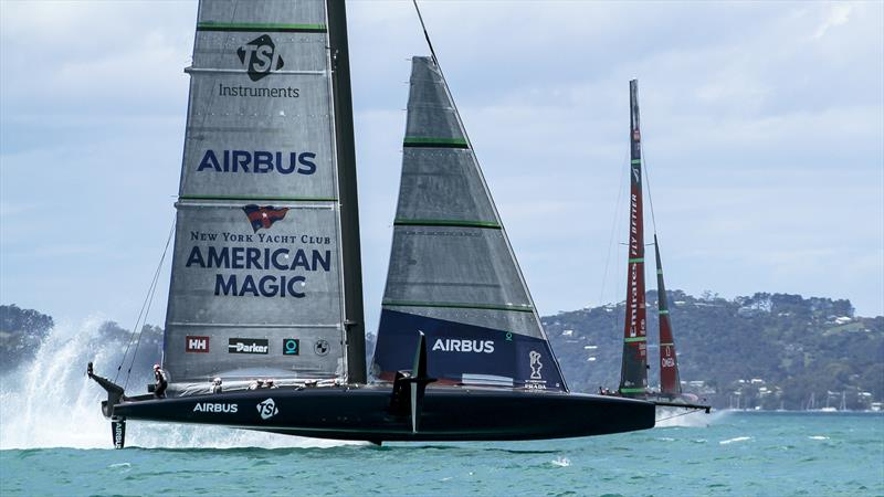 Patriot - American Magic - Practice Day 1 - ACWS - December 8, 2020 - Waitemata Harbour - Auckland - 36th America's Cup - photo © Richard Gladwell / Sail-World.com