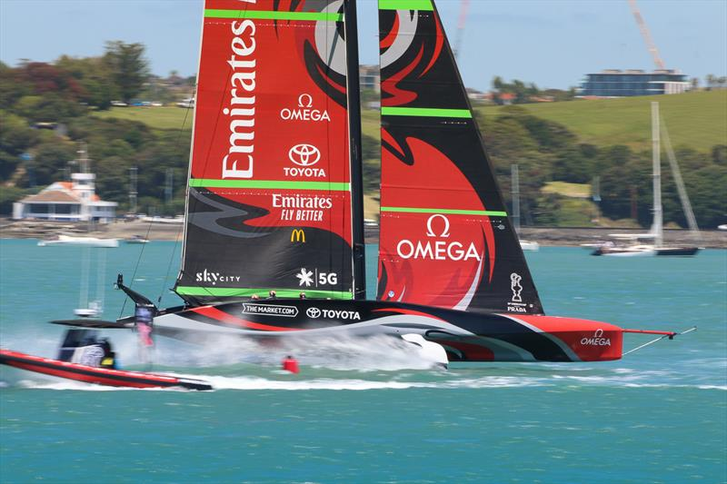 Emirates Team New Zealand - America's Cup World Series - Day 1 - Waitemata Harbour - December 17, 2020 - 36th Americas Cup presented by Prada - photo © Craig Butland