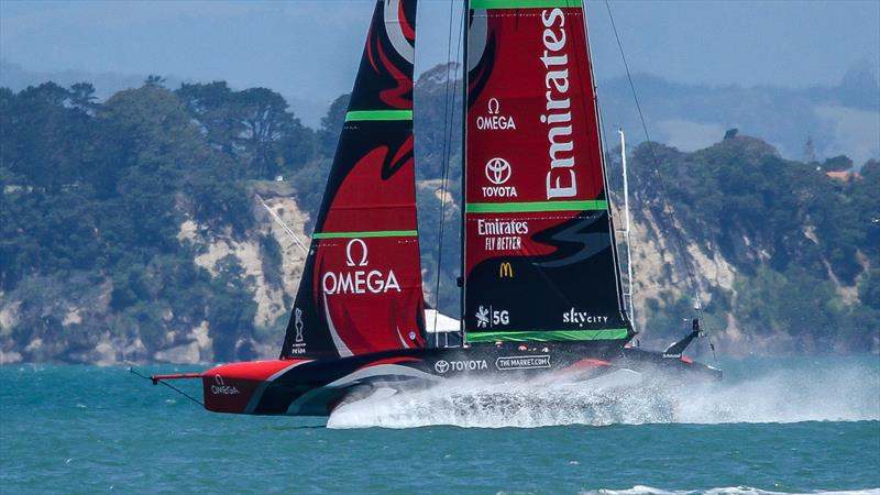 Emirates Team New Zealand - America's Cup World Series - Day 1 - Waitemata Harbour - December 17, 2020 - 36th Americas Cup presented by Prada - photo © Richard Gladwell / Sail-World.com
