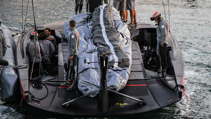 Luna Rossa crew pits and cowls - Waitemata Harbour - January 6, 2020 - 36th America's Cup - photo © Richard Gladwell / Sail-World.com