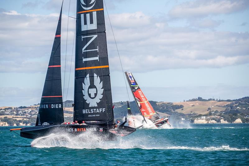 Emirates Team New Zealand cartwheel - Practice Day 1 - January 11, 2021 - America's Cup 36 - photo © C Gregory