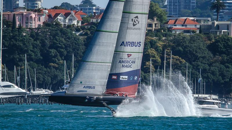 America's Cup: Close call for American Magic on Waitemata Harbour test sail