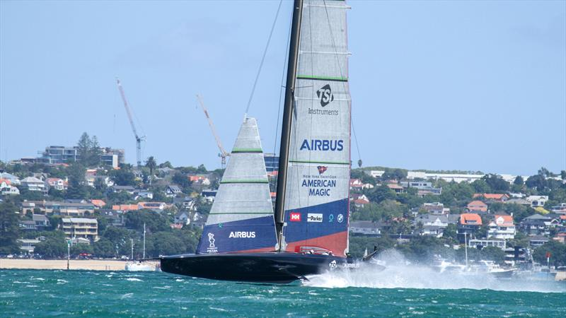 American Magic - Patriot - Waitemata Harbour - January 29,  2021 - 36th America's Cup - photo © Richard Gladwell / Sail-World.com