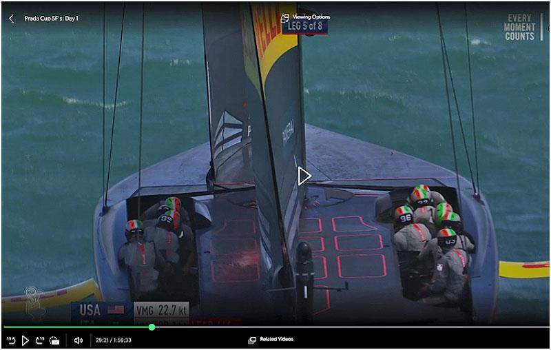 Rig and sails of Luna Rossa Prada Pirelli - photo © Photo supplied