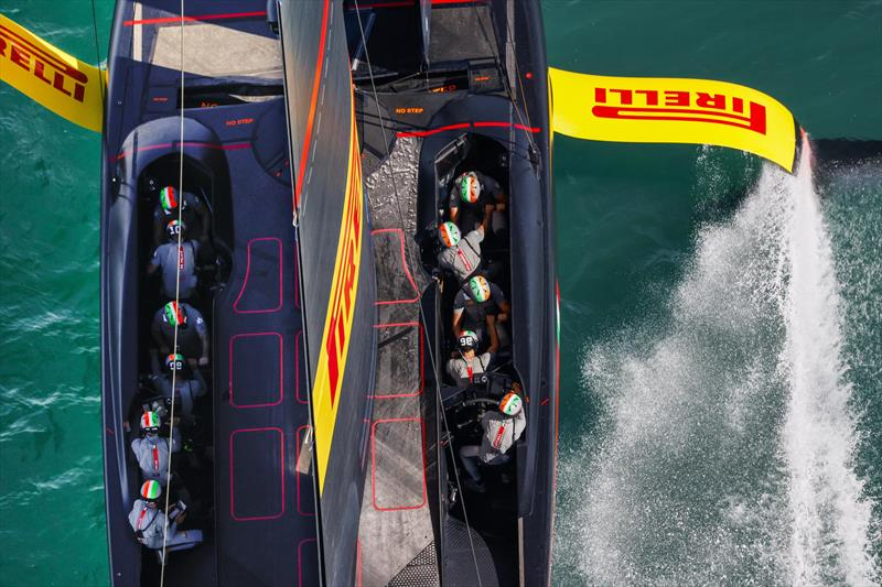 Luna Rossa Prada Pirelli is in the box seat to step forward into the America's Cup match. photo copyright America's Cup Media taken at Royal New Zealand Yacht Squadron and featuring the AC75 class