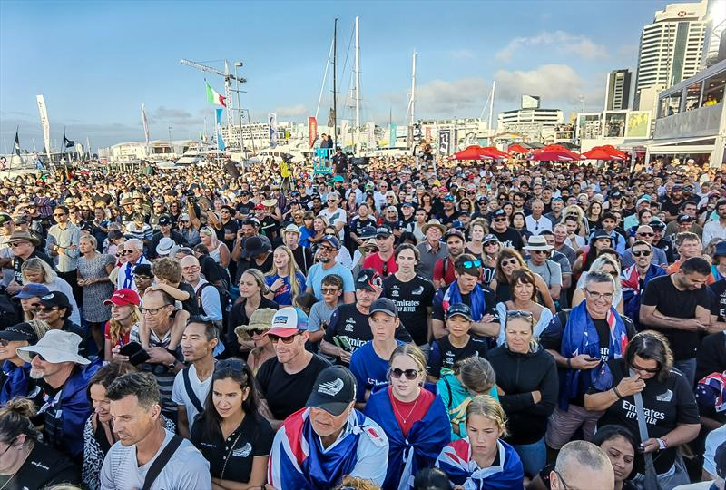 A sea of fans at the Presentation - America's Cup - Day 7 - March 17, 2021, Course A - photo © Richard Gladwell / Sail-World.com