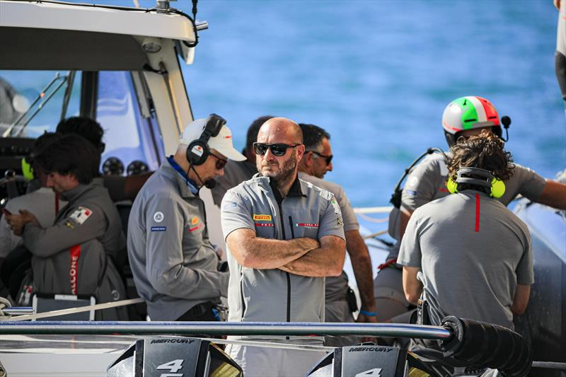 America's Cup Match - Race Day 4 - Max Sirena (Team Director & Skipper - Luna Rossa Prada Pirelli Team) photo copyright ACE / Studio Borlenghi taken at Royal New Zealand Yacht Squadron and featuring the AC75 class