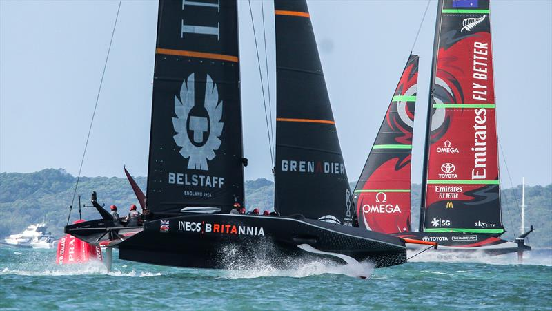 Emirates Team NZ and INEOS Team UK - America's Cup World Series - America's Cup - December 18, 2020 - photo © Richard Gladwell / Sail-World.com / nz