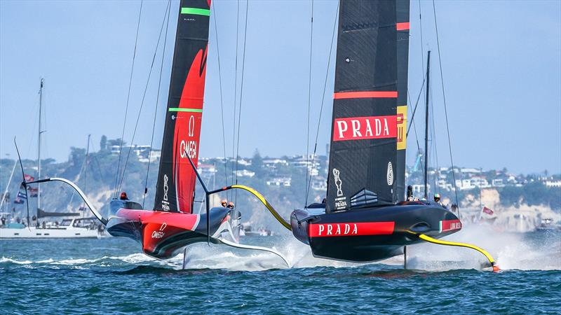 Emirates Team NZ and Luna Rossa start Race 10 - America's Cup - Day 7 - March 17, 2021, Course A - photo © Richard Gladwell / Sail-World.com
