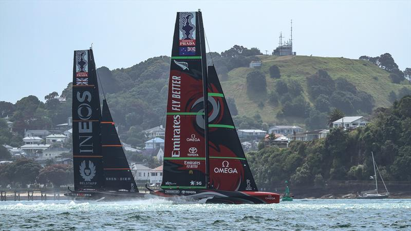 Emirates Team NZ and now-Challenger of Record INEOS Team UK  - America's Cup World Series - Day 2 - photo © Richard Gladwell - Sail-World.com / nz