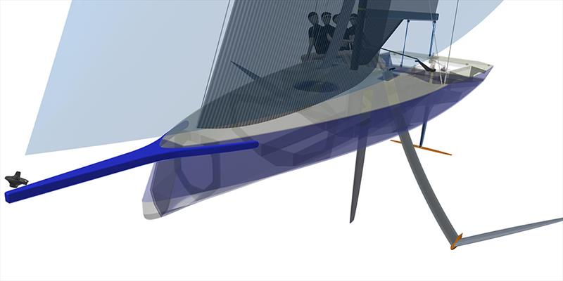 The AC9F - to be developed in conjunction with the China Sports Industry Group , is a 9metre foiling monohull will be sailed by a Mixed crew of four sailors aged 18-24yrs - photo © America's Cup Media