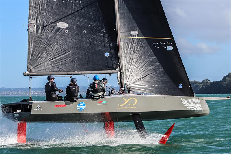 Kotare - America's Cup Youth Boat - AC9F - sailing on the Waitemata - June 24, 2020 photo copyright Andrew Delves taken at Royal New Zealand Yacht Squadron and featuring the AC9F class