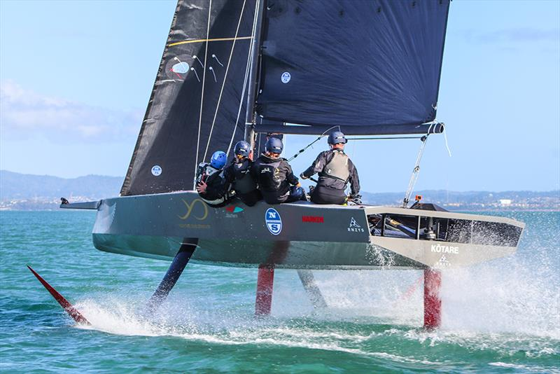 Kotare - America's Cup Youth Boat - AC9F - sailing on the Waitemata - June 24, 2020 - photo © Andrew Delves