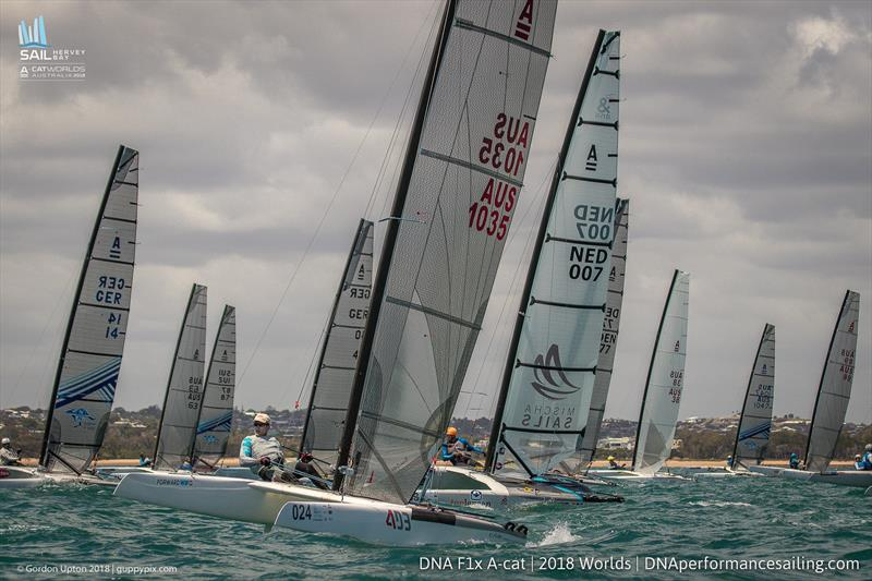 David Brewer - Int A-Cat Worlds - Day 2 - Hervey Bay, Queensland - November 19, 2018 - photo © Gordon Upton / www.guppypix.com