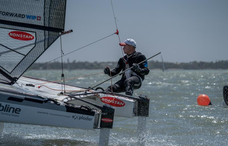 Emirates Team New Zealand sailor Glenn Ashby competing in the A-Class Catamaran World Championships in Hervey Bay, Queensland, Australia. - photo © Josh McCormack