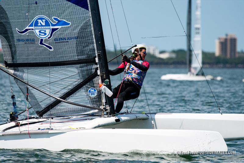 Cam Farrah, A Class Foiling Catamaran - 2021 Helly Hansen NOOD Regatta St. Petersburg - photo © Paul Todd / www.outsideimages.com