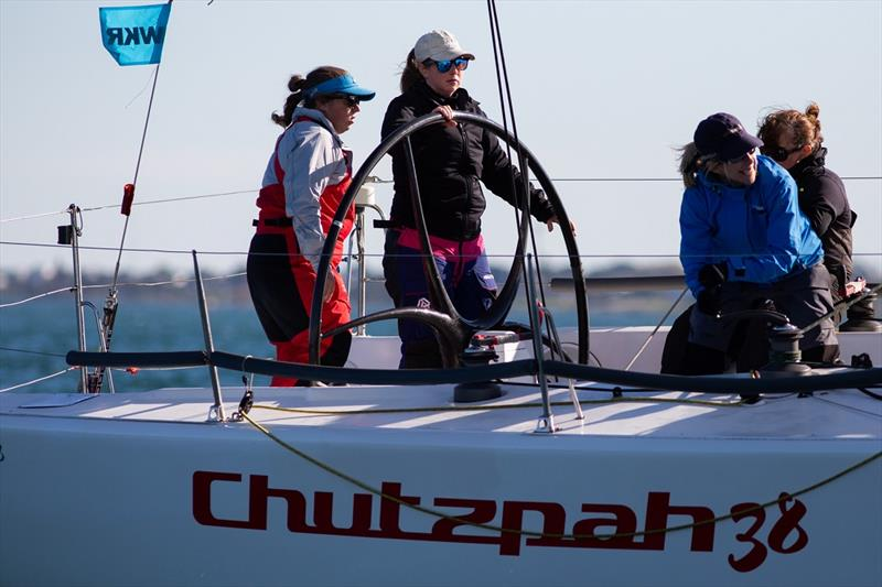 Jo Breen at the helm of Chutzpah 38 - Australian Women's Keelboat Regatta - photo © Bruno Cocozza / AWKR