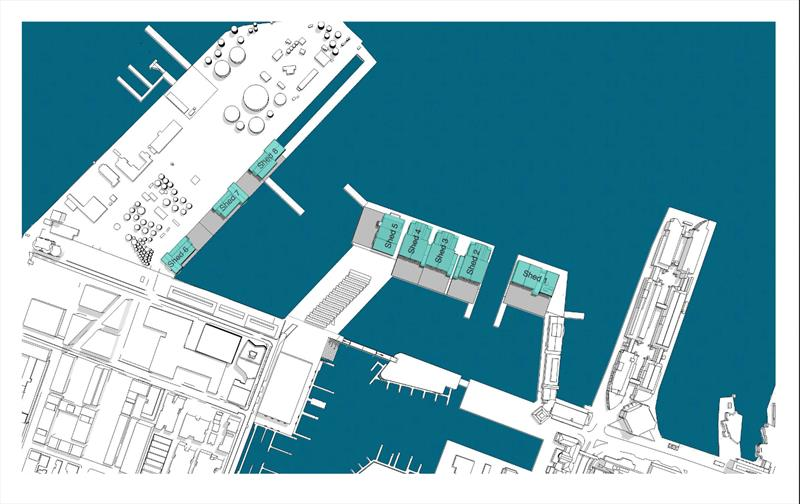 America's Cup - Aerial Perspective Auckland bases - Panuku Developments photo copyright Panuku Developments taken at Royal New Zealand Yacht Squadron and featuring the ACC class