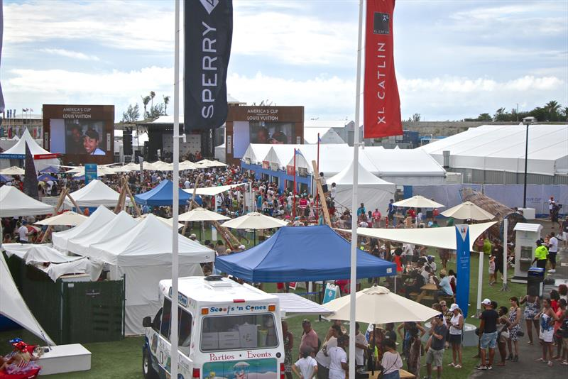 The America's Cup Village backed into the Emirates Team NZ base in Bermuda - photo © Richard Gladwell