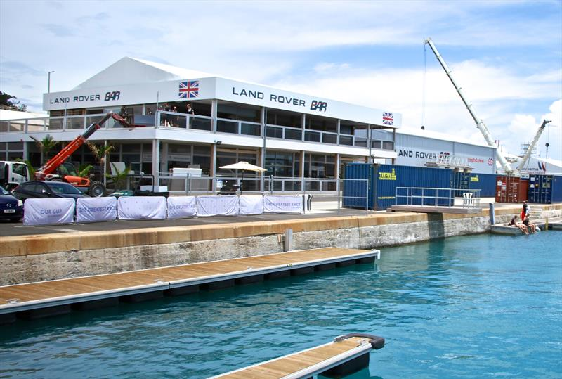 Land Rover BAR have a `double base` in Bermuda with a large corporate area (all pre-frabricated). The British team are expected to be one of the worst affected if the