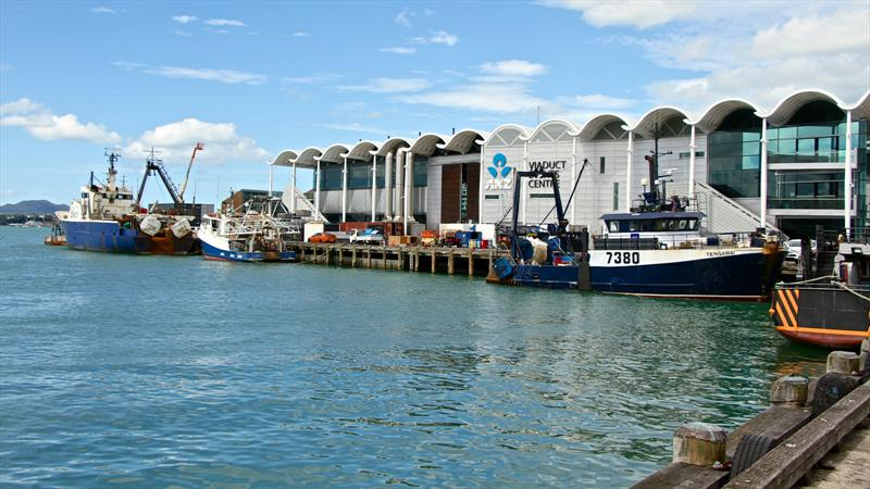 The fishing fleet claimed to be part of the ambience of the Wynyard Point vicinity as viwed from the North Wharf cafes - photo © Richard Gladwell
