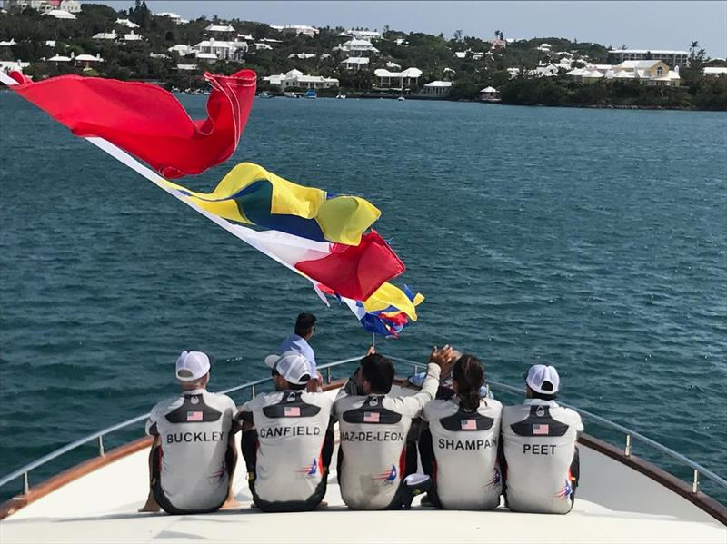Team USA 21 will be an All-American sailing team - here lined ready for the QuartFinals in the Argos Bermuda Gold Cup 2018 - photo © USAone