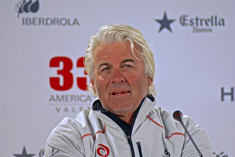 Brad Butterworth at the Media Conference following the loss of the America's Cup in 2010 - photo © Richard Gladwell