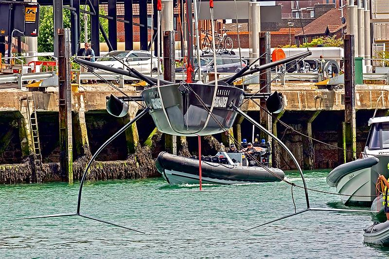 INEOS Team UK launch the modified QUANT 28 in Portsmouth - photo © Paul Skirrow