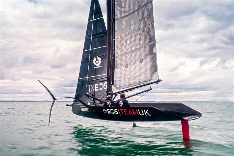 INEOS Team UK sail their surrogate Quant 28 mimicing the AC75  - photo © INEOS Team UK