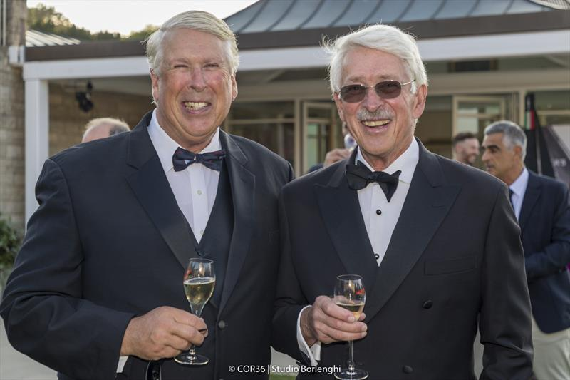 Brothers Jim (left) and John Marshall - America's Cup Hall of Fame Induction, Royal Yacht Squadron, Cowes IOW, August 31, 2018 - photo © Carlo Borlenghi