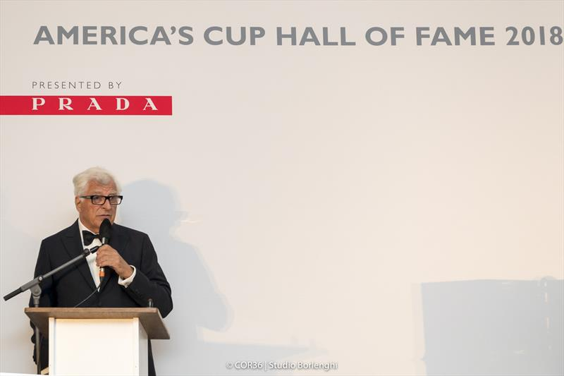 Hall of Fame Induction - Patrizio Bertelli, CEO Prada Group - America's Cup Hall of Fame Induction, Royal Yacht Squadron, Cowes IOW, August 31, 2018 - photo © Carlo Borlenghi