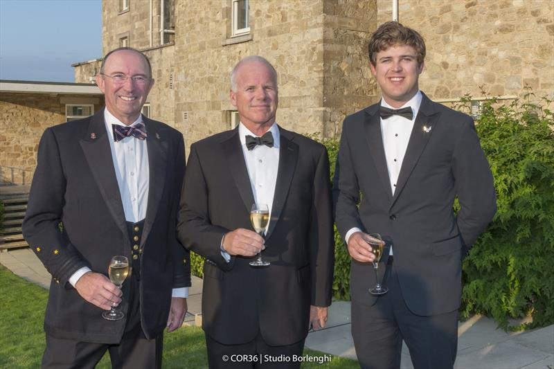 Phil Lotz (NYYC),Terry Hutchinson, skipper American Magic and Will Ricketson - America's Cup Hall of Fame Induction, Royal Yacht Squadron, Cowes IOW, August 31, 2018 - photo © Carlo Borlenghi