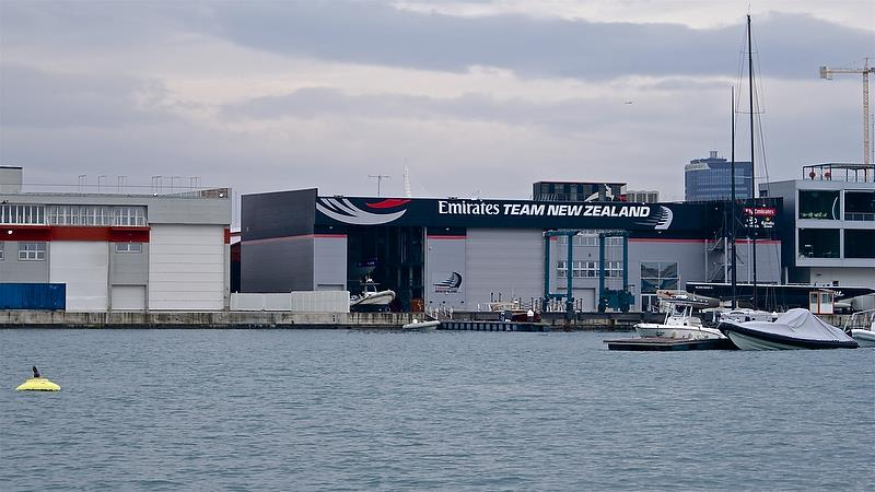Emirates Team New Zealand base in Valencia at the time of the 2010 America's Cup was the only base that did not use a standard steel framework - photo © Richard Gladwell
