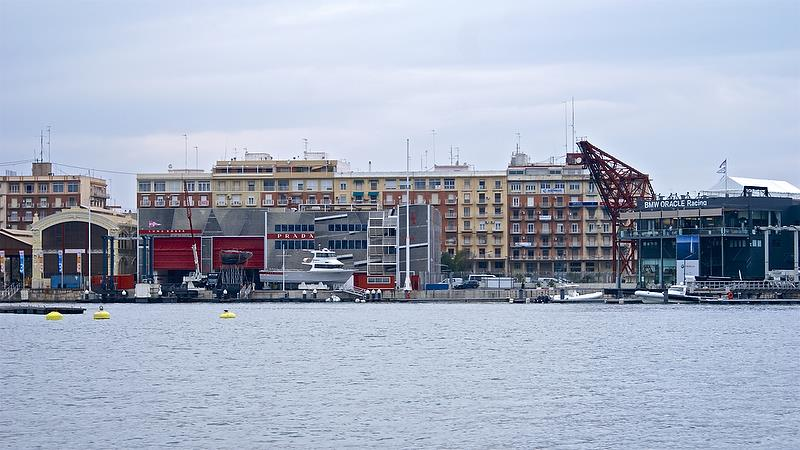 Luna Rossa base in Valencia at the time of the 2010 America's Cup - photo © Richard Gladwell