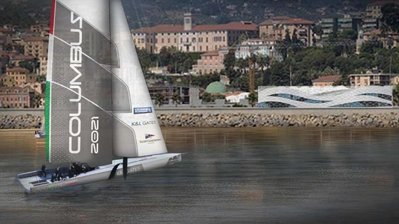 Columbus 2021 with YC Imperia in the background - photo © La Stampa