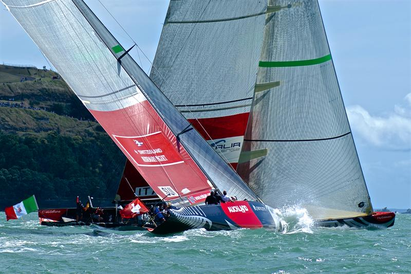 Racing in the 2009 Louis Vuitton Pacific Series on what will be Course C in the 2021 America's Cup - photo © Richard Gladwell
