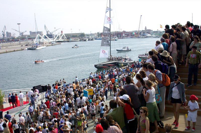 Part of the Challenger of Record's roles in conjunction with America's Cup Events is to enhance the America's Cup fan experience - entry to the Darcena, Valencia, 2007 - photo © ACM