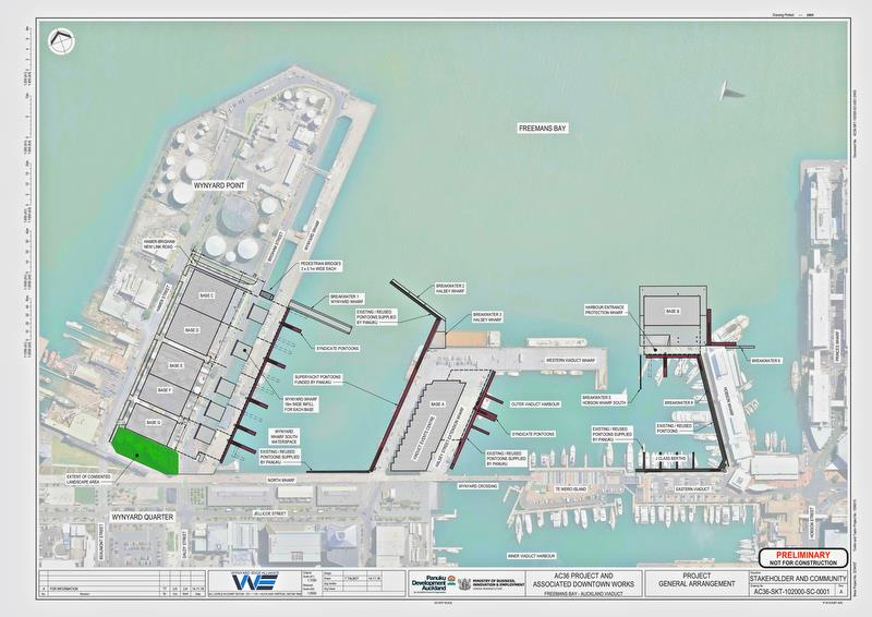 America's Cup 36 - Base layout - December 2018 - photo © Panuku Developments