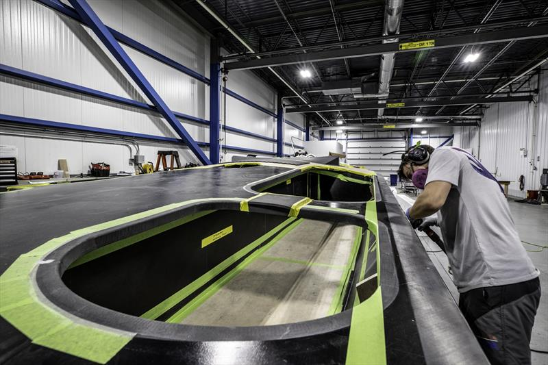`The Mule` American Magic's surrogate boat under construction - photo © Amory Ross
