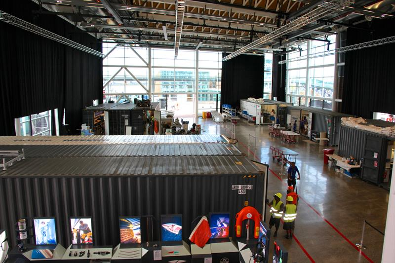 Inside the Viaduct Events Centre when it was being used by the Volvo Ocean race as `The Boatyard` - America's Cup Bases, Auckland, March 8, 2019 - photo © Richard Gladwell