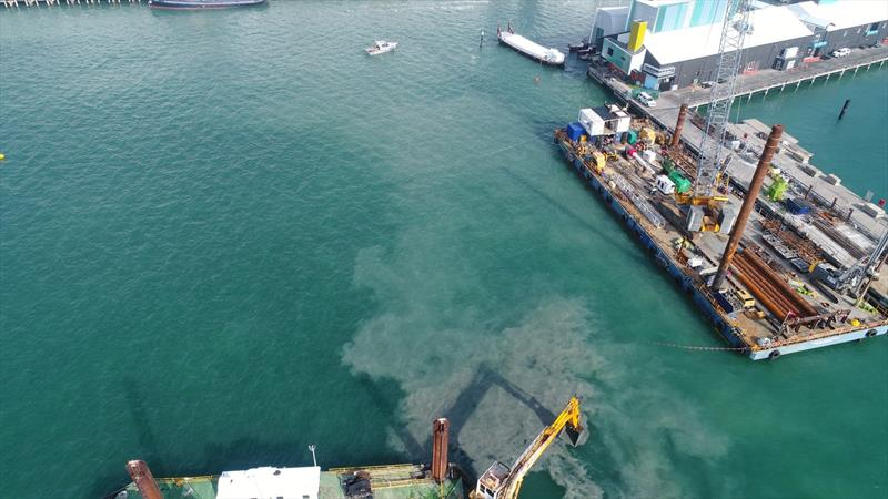 The mud flume is being monitored by webcam - America's Cup base development - Wynyard Edge Alliance - Update March 28, 2019  - photo © Wynyard Edge Alliance