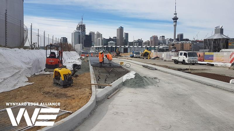Access road formed - America's Cup base development - Wynyard Edge Alliance - Update March 28, 2019  - photo © Wynyard Edge Alliance